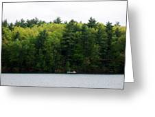 Canoe On Walden Pond Greeting Card