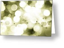 Green Circles Greeting Card
