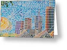 Green City In The Sun Greeting Card