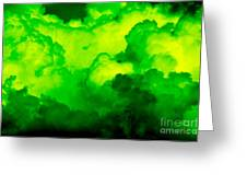 Green Clouds Greeting Card