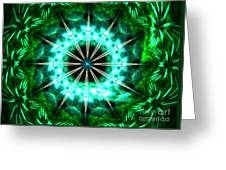 Green Compass Greeting Card