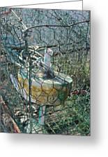 Green Crabbing Basket Greeting Card