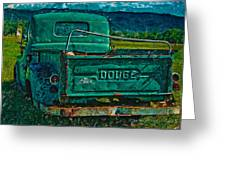 Green Dodge Greeting Card