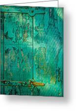 Green Door - Carmel By The Sea Greeting Card