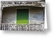 Green Door Galveston Tx  Greeting Card