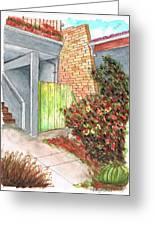 Green Door In Burbank - California Greeting Card