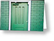 Green Door San Francisco Greeting Card