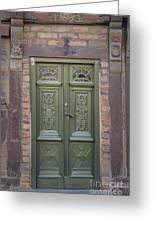 Green Door Ystad Greeting Card