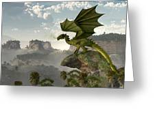 Green Dragon Greeting Card