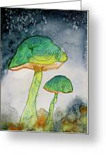 Green Dreams Greeting Card