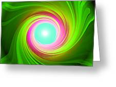 Green Energy-spiral Greeting Card