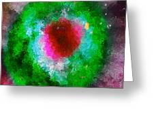 Green Eye Of Heaven Greeting Card