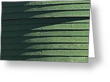 Green Facade Greeting Card