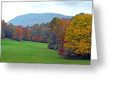 Green Field In The Fall Greeting Card