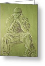 Green Figure I Greeting Card