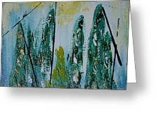 Green Figures Greeting Card