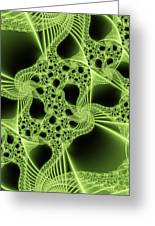 Green Filigree Greeting Card