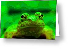 Green Frog Poster Greeting Card