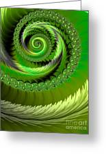 Green Fronds Greeting Card