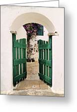Green Gate Greeting Card