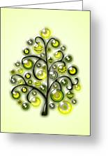 Green Glass Ornaments Greeting Card