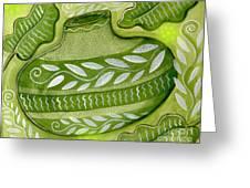 Green Gourd Greeting Card