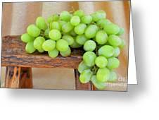 Green Grapes Greeting Card