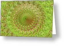 Green Grass Swirled Greeting Card