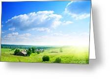 Green Grasses Greeting Card by Boon Mee