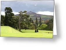 Green Green Garden And Mountain Greeting Card