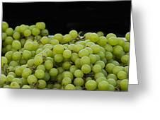 Green Green Grapes Greeting Card