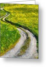 Green Green Grass Of Home Greeting Card