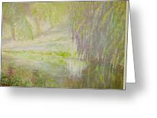 Green Haze Morning Greeting Card