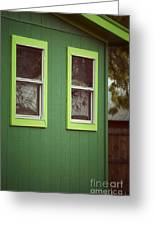 Green House Greeting Card