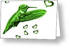 Green Hummingbird - 2055 F S M Greeting Card