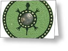 Green Indian Head Turtle Greeting Card