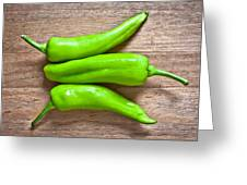 Green Jalapeno Peppers Greeting Card