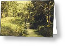 Green Landscape Greeting Card