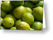 Green Limes Greeting Card