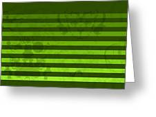 Green Lines And Feelings Greeting Card