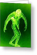 Green Man Arises Greeting Card