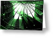 Green Marriott Marque Greeting Card