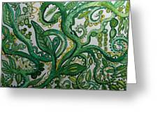 Green Meditation Greeting Card
