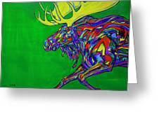 Green Mega Moose Greeting Card