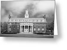 Green Mountain College Ames Hall Greeting Card by University Icons