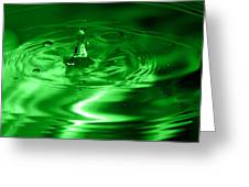 Green Multi Colored Water Drop Bubbling Greeting Card