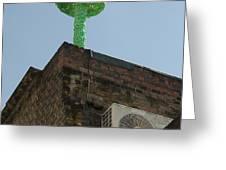 Green Mushroom By Nagel Greeting Card