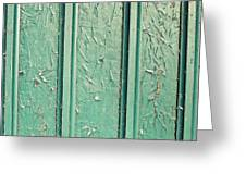 Green Painted Wood Greeting Card