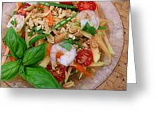 Green Papaya Salad With Shrimp Greeting Card