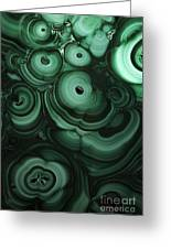 Green Patterns Of Malachite Greeting Card